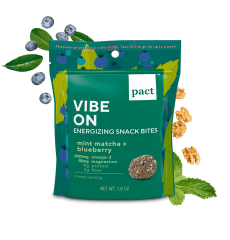 pact vibe on energy snack bites package