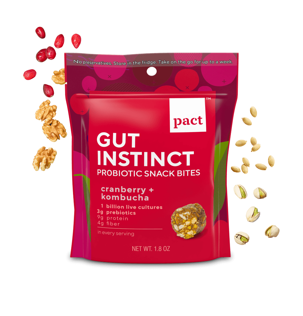 pact gut instinct probiotic snack bites package